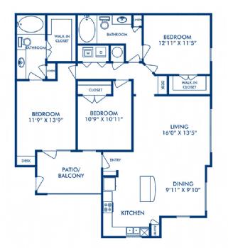 Three bedroom apartments for rent in San Antonio