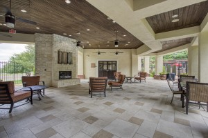 1 Bedroom Apartments for rent in San Antonio, TX - Outside Covered Patio with Fireplace