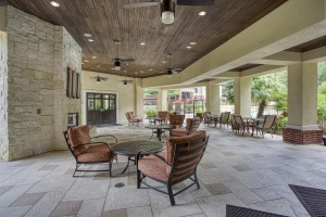 1 Bedroom Apartments for rent in San Antonio, TX - Outside Covered Patio with Seating