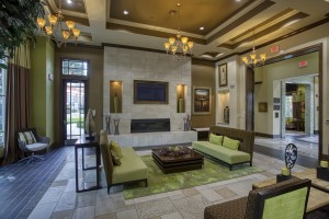 One Bedroom Apartments for rent in San Antonio, TX - Clubhouse Interior with Fireplace