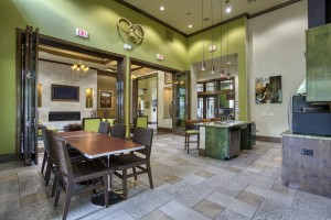 One Bedroom Apartments for rent in San Antonio, TX - Clubhouse Kitchen Area