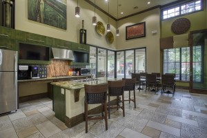 One Bedroom Apartments for rent in San Antonio, TX - Clubhouse Kitchen with Coffee Bar
