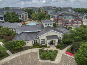 Bedroom Apartments for rent in San Antonio, TX - Aerial View of Clubhouse & Community