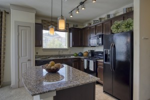 Three Bedroom Apartments for rent in San Antonio, TX - Model Kitchen with Island Bar
