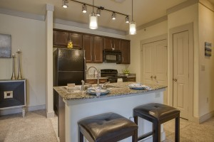 Two Bedroom Apartments for rent in San Antonio, TX - Model Kitchen & Breakfast Bar